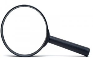 image of magnifying glass used to search through the internet